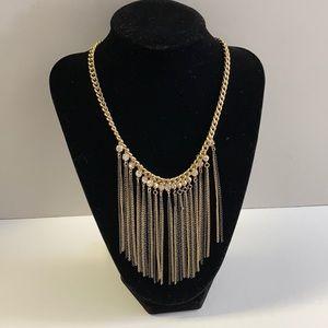 Gold tone embellished necklace